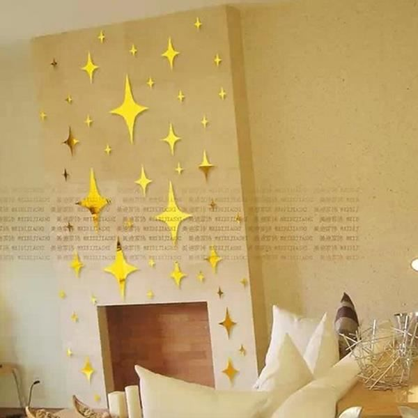 Sticker muraux miroir toile jolie diy pour salon chambre - Stickers muraux pour salon ...