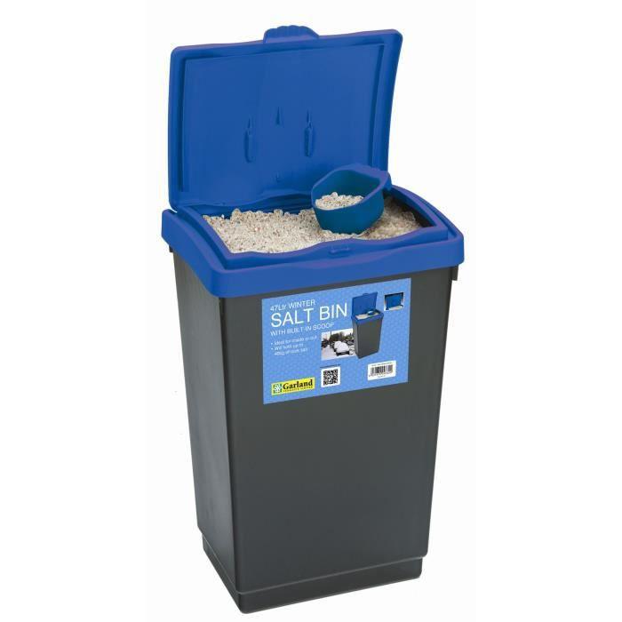 47l hiver sel bac couvercle bleu pour stockage en plastique avec pelle achat vente bac for Bac plastique avec couvercle