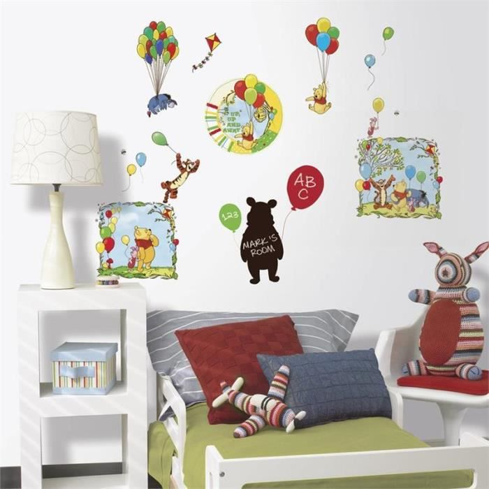 stickers muraux mural disney winnie l 39 ourson achat. Black Bedroom Furniture Sets. Home Design Ideas