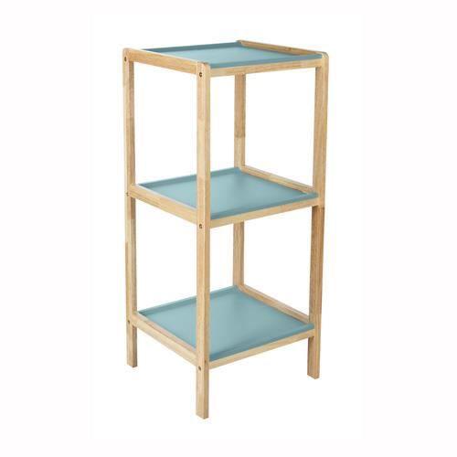 Etag re de salle de bain scandi 3 niveaux bleu achat for Etagere salle de bain fly