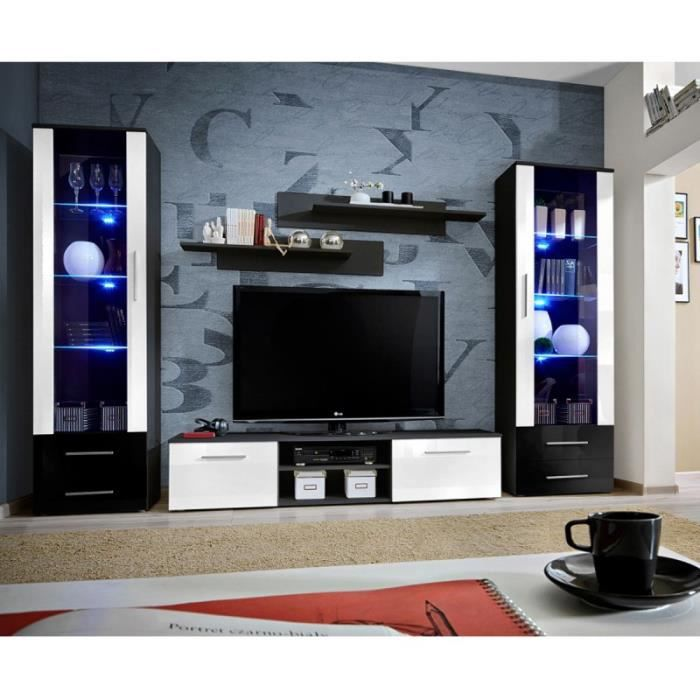 meuble tv bibliotheque achat vente meuble tv. Black Bedroom Furniture Sets. Home Design Ideas