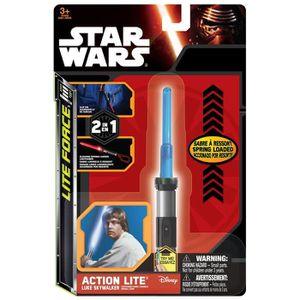 Porte-clef lampe torche Star Wars - Couleur aléatoire Bleu/Vert/Rouge