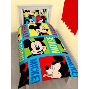 housse de couette mickey achat vente housse de couette. Black Bedroom Furniture Sets. Home Design Ideas