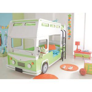 lit superpose enfant 90 x 190 achat vente lit superpose enfant 90 x 190 pas cher cdiscount. Black Bedroom Furniture Sets. Home Design Ideas