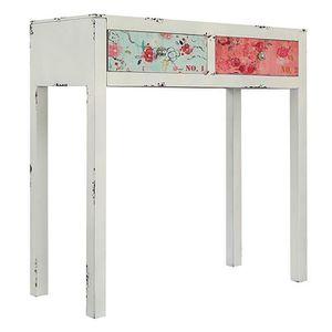 fleurs polychromes console en bois 80 x 80 x 35 cm achat vente fleur artificielle. Black Bedroom Furniture Sets. Home Design Ideas