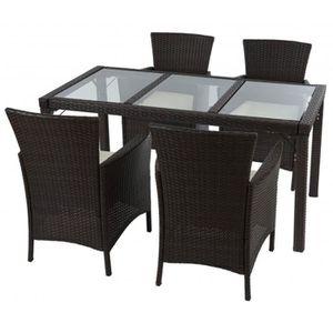 Ensemble table plus chaise de jardin achat vente for Table plus chaise