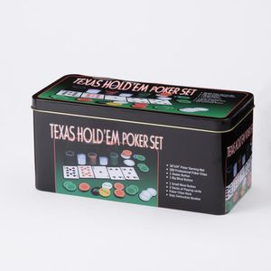 MALETTE POKER Coffret Poker en métal 200 jetons Noir