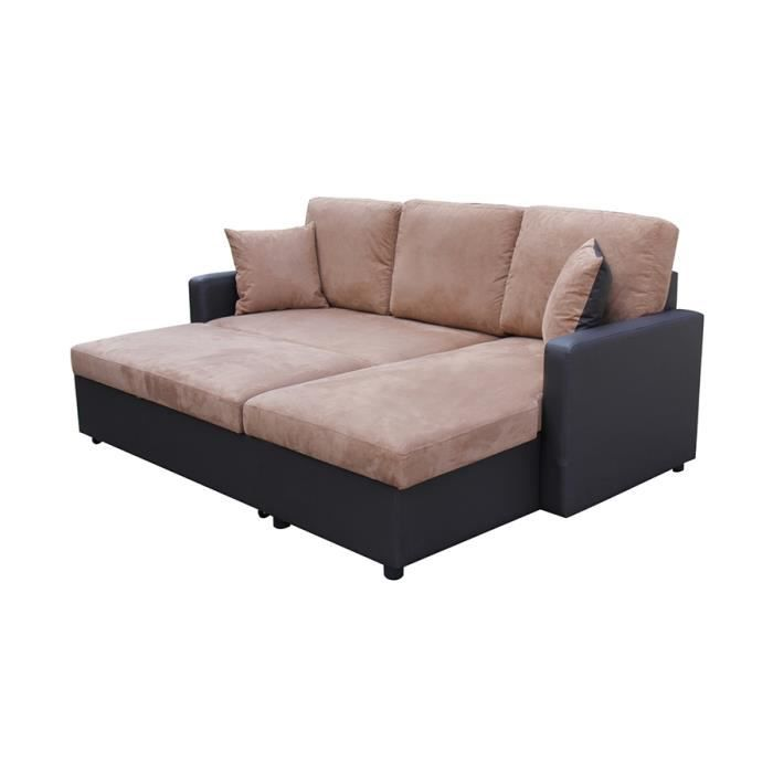 canap d 39 angle convertible avec coffre de rangemen achat. Black Bedroom Furniture Sets. Home Design Ideas