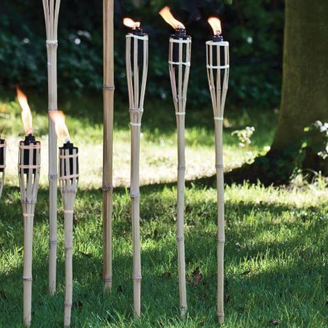Brema torche bambou set de 3 pi ces 90cm 150ml achat - Torche a huile jardin ...