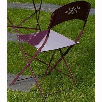 Lot de 2 chaises pliantes bistrot lilas g achat for Lot chaise de jardin