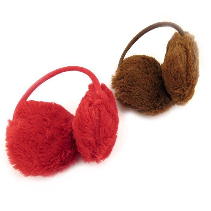 2 caches oreilles enfant coloriage rouge marron achat - Coloriage marron ...