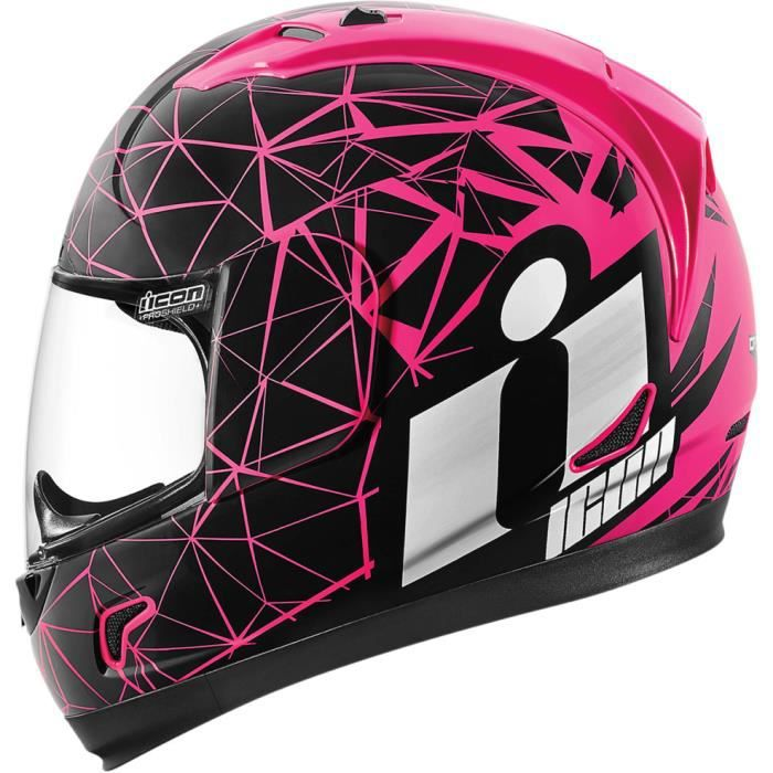 casque moto icon alliance crysmatic rose achat vente casque moto scooter casque moto icon. Black Bedroom Furniture Sets. Home Design Ideas