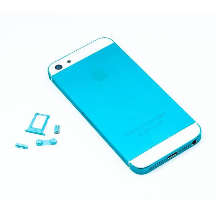 chassis coque arri re bleu clair apple iphone 5 achat coque bumper pas cher avis et. Black Bedroom Furniture Sets. Home Design Ideas