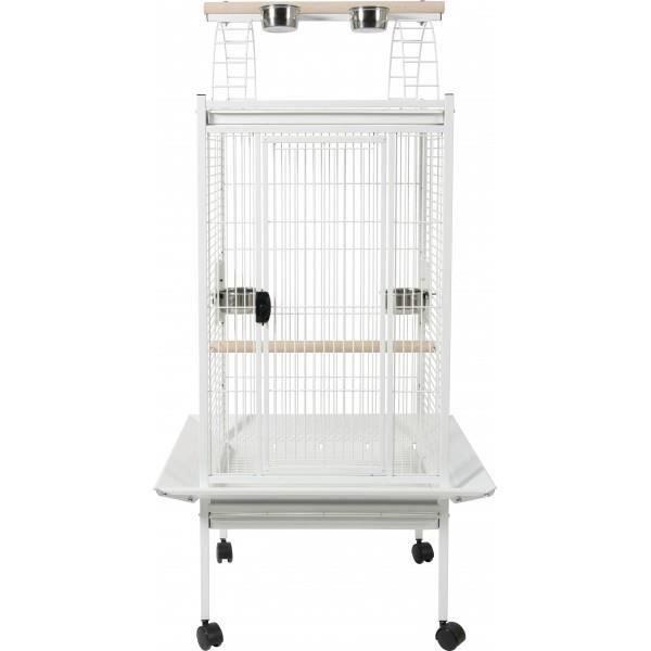 cage perruche et perroquet kambela 76 blanche achat vente voli re cage oiseau cage. Black Bedroom Furniture Sets. Home Design Ideas