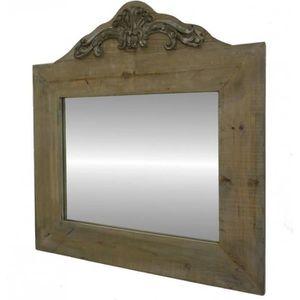 Miroir bois achat vente miroir bois pas cher cdiscount for Miroir trumeau bois