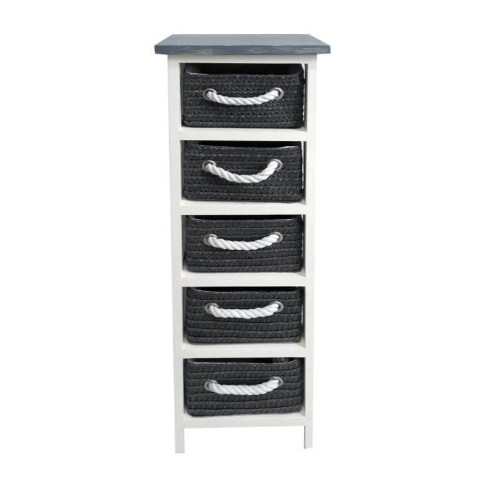 napoli meuble de salle de bain 5 tiroirs 29 cm gris. Black Bedroom Furniture Sets. Home Design Ideas