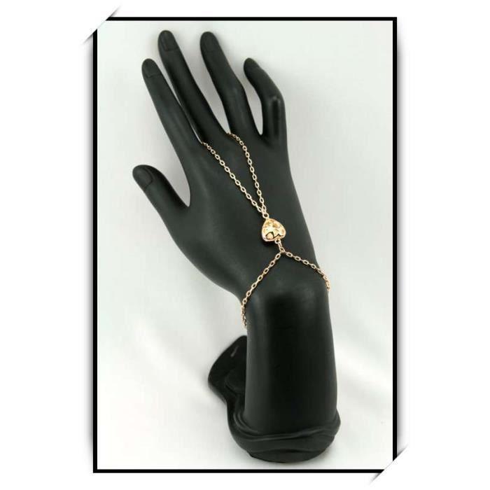 bracelet bague cha ne de main c ur bba9 achat vente bracelet gourmette bracelet bague. Black Bedroom Furniture Sets. Home Design Ideas