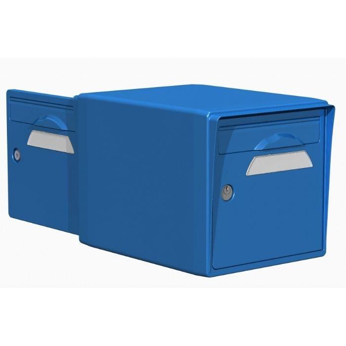 boite aux lettres r sine 2 portes bleu 15 000 df achat vente boite aux lettres cdiscount. Black Bedroom Furniture Sets. Home Design Ideas