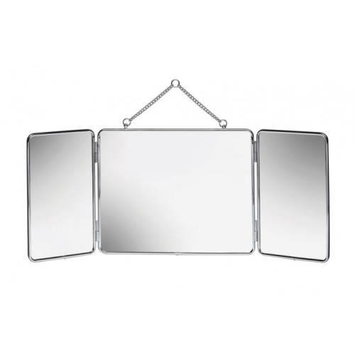 miroir tryptique suspendre gerson50301 achat vente miroir cdiscount. Black Bedroom Furniture Sets. Home Design Ideas