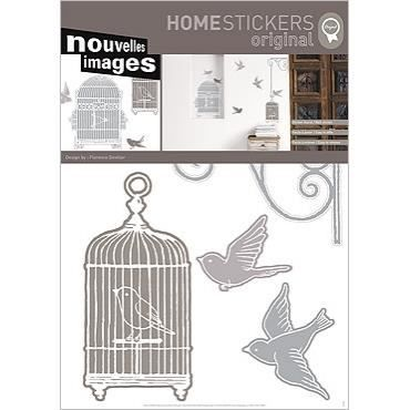 Stickers muraux adhesif mural xxl cages oiseaux achat - Plaque adhesif mural ...