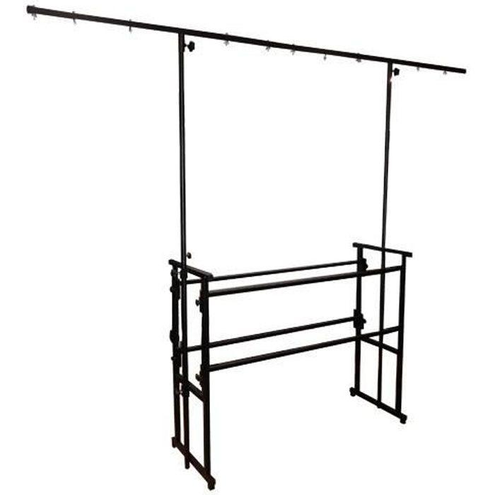 support dj mobile pro avec portique de lumiere structure. Black Bedroom Furniture Sets. Home Design Ideas