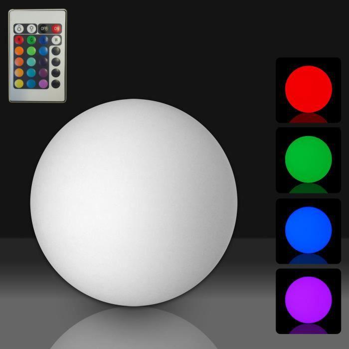 boule lumineuse a led etanche sans fil 16 couleurs et telecommande 30cm achat vente boule