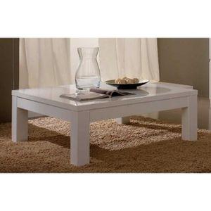 Table roma achat vente table roma pas cher cdiscount - Table de salon blanche ...