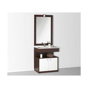 meuble sous lavabo marron achat vente meuble sous lavabo marron pas cher cdiscount. Black Bedroom Furniture Sets. Home Design Ideas