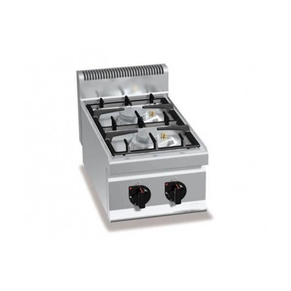 Fourneau gaz professionnel 100 acier inox 2 br leurs - Table de cuisson professionnelle ...