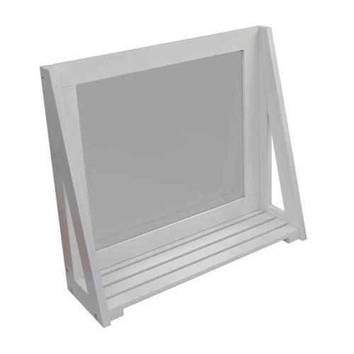 miroir avec tablette blanc achat vente miroir salle de. Black Bedroom Furniture Sets. Home Design Ideas