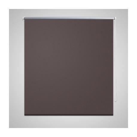 Store enrouleur occultant 140 x 230 cm marron achat for Store enrouleur occultant fenetre pvc