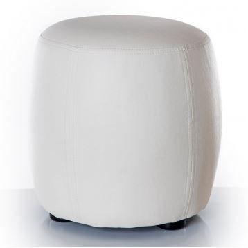 pouf rond blanc 30 cm achat vente pouf poire pu cdiscount. Black Bedroom Furniture Sets. Home Design Ideas