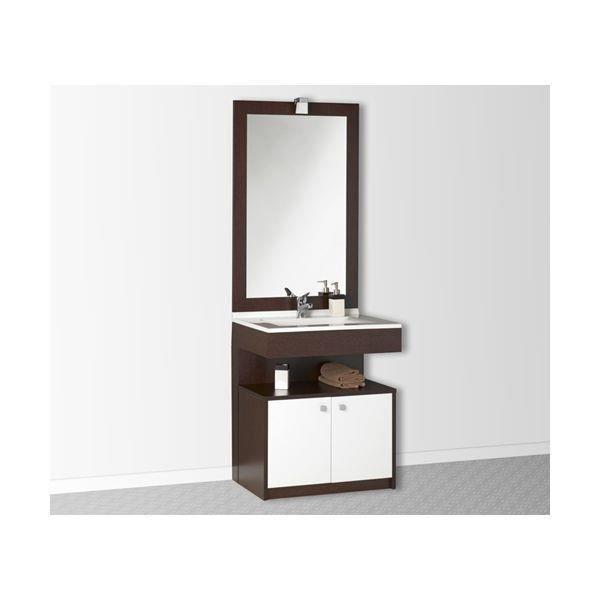 Meuble salle de bain pmr simple vasque trapani 70 weng - Meuble salle de bain simple vasque ...