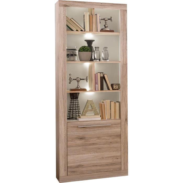 biblioth que salon coloris ch ne sable achat vente biblioth que biblioth que salon coloris. Black Bedroom Furniture Sets. Home Design Ideas