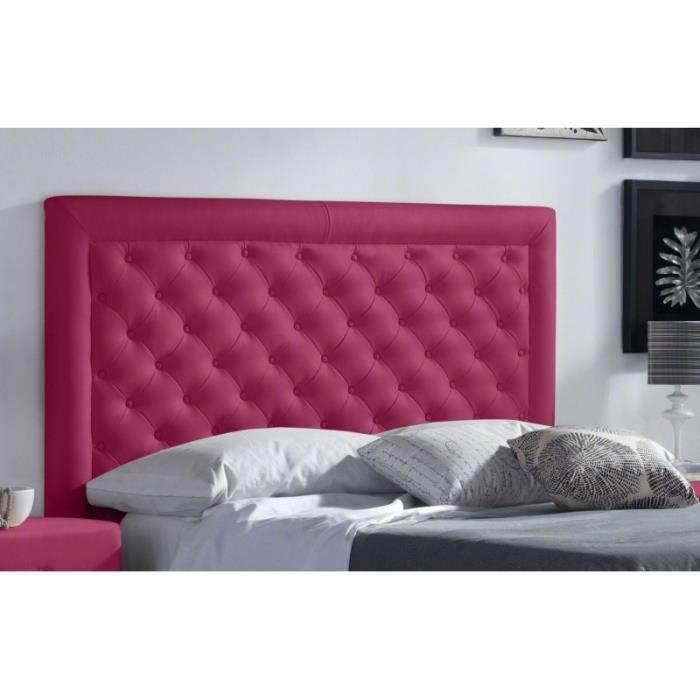 t te de lit pu marco couleur rose mesure lit de 120. Black Bedroom Furniture Sets. Home Design Ideas