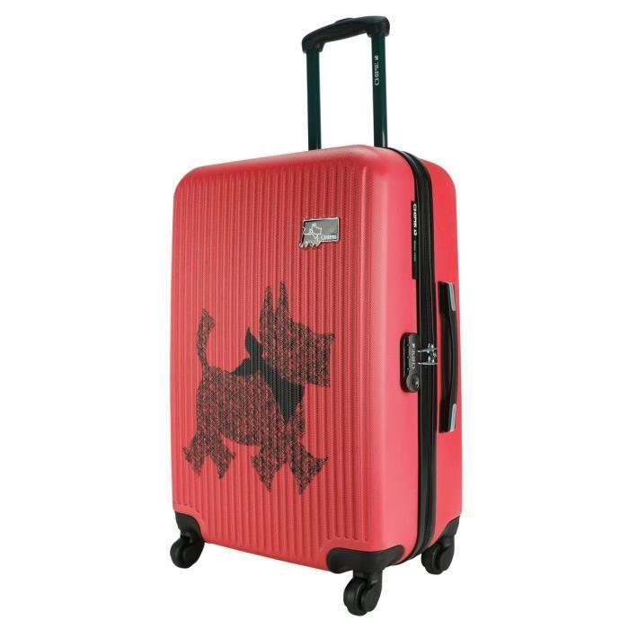 grande valise 68 cm rose de la marque chipie rose rose achat vente valise bagage. Black Bedroom Furniture Sets. Home Design Ideas