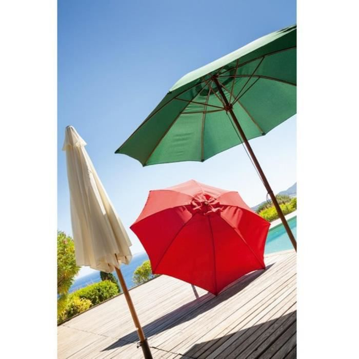 parasol guayaquil rond en bambou rouge achat vente parasol ombrage parasol guayaquil rouge. Black Bedroom Furniture Sets. Home Design Ideas