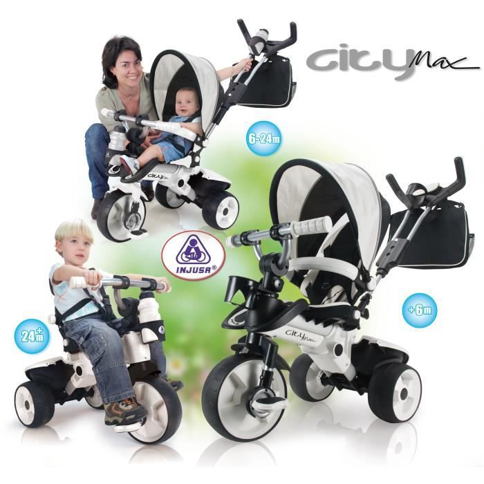 injusa tricycle evolutif city max achat vente tricycle cdiscount. Black Bedroom Furniture Sets. Home Design Ideas
