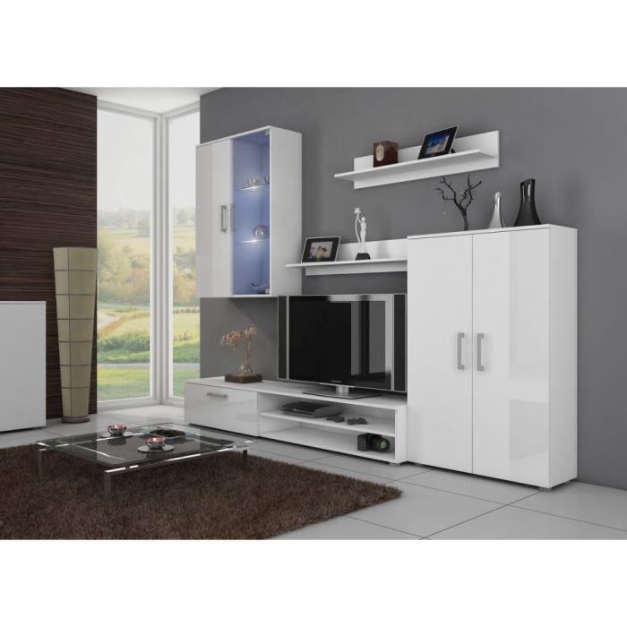 stella ensemble de meubles de salon couleur blanc mat blanc laqu haute brillance achat. Black Bedroom Furniture Sets. Home Design Ideas