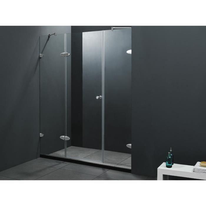 Porte de douche battante malmo 150x183cm achat vente douche receveur po - Porte battante de douche ...