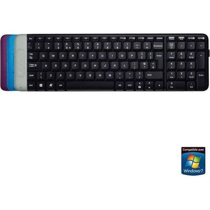 logitech clavier sans fil k230 prix pas cher cdiscount. Black Bedroom Furniture Sets. Home Design Ideas