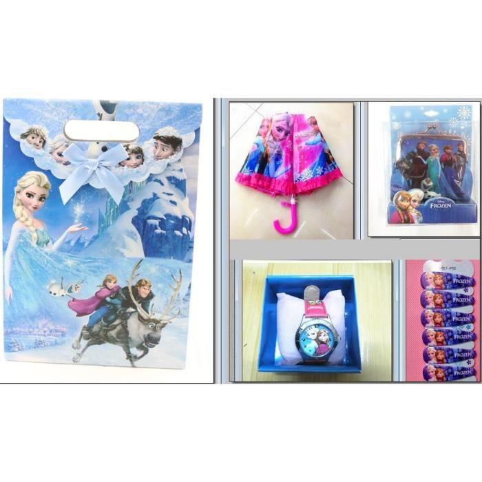lot cadeaux sac montre parapluie reine des neiges achat. Black Bedroom Furniture Sets. Home Design Ideas