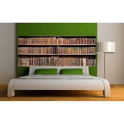 papier peint t te de lit biblioth que 3664 dimensions 160x62cm achat vente papier peint. Black Bedroom Furniture Sets. Home Design Ideas