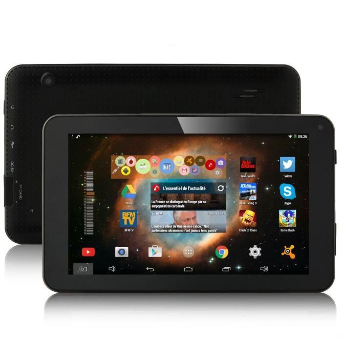 tablette pc tactile ips 7 pouces 1024x600 quad core android 4 4 kitkat google play liseuse. Black Bedroom Furniture Sets. Home Design Ideas