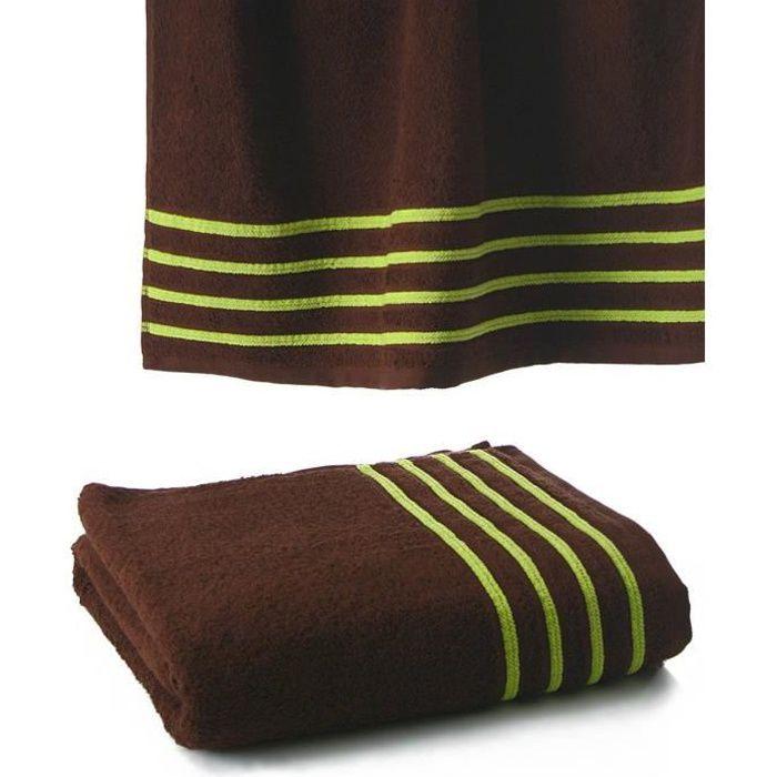 Drap de bain 100x150 550gr chocolat anis achat vente serviettes de bain - Cdiscount linge de maison ...