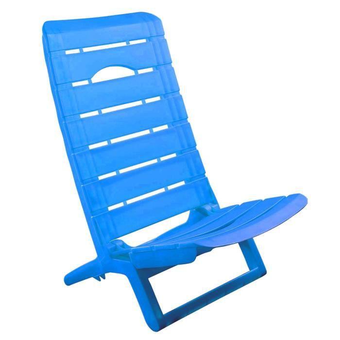 Lot de 4 fauteuils bas pliants bleu turquoise achat for Fauteuil transat de jardin