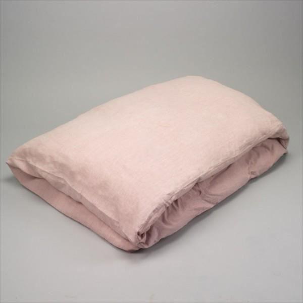 housse de couette lin stonewash pink 260x240 achat vente housse de couette soldes d. Black Bedroom Furniture Sets. Home Design Ideas