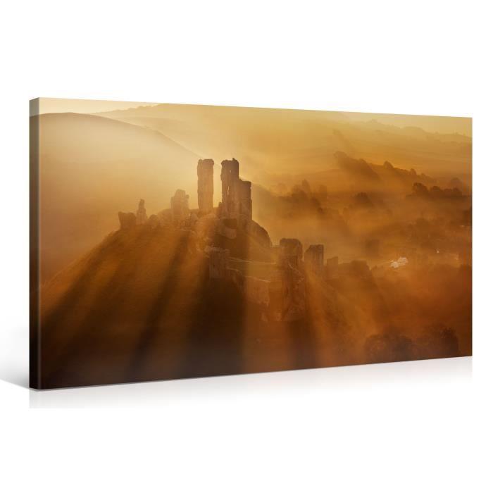 Tableau sur toile ombres matin 100x50cm achat vente for Tableau impression sur toile