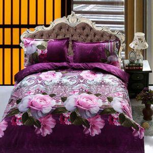 parure de lit fleurie achat vente parure de lit fleurie pas cher cdiscount. Black Bedroom Furniture Sets. Home Design Ideas