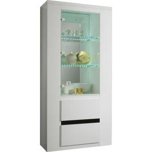 vitrine blanc laquer achat vente vitrine blanc laquer pas cher cdiscount